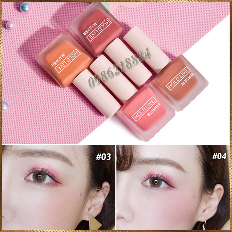 Má hồng dạng kem Hold Live Fruit Juice Blusher HFB65
