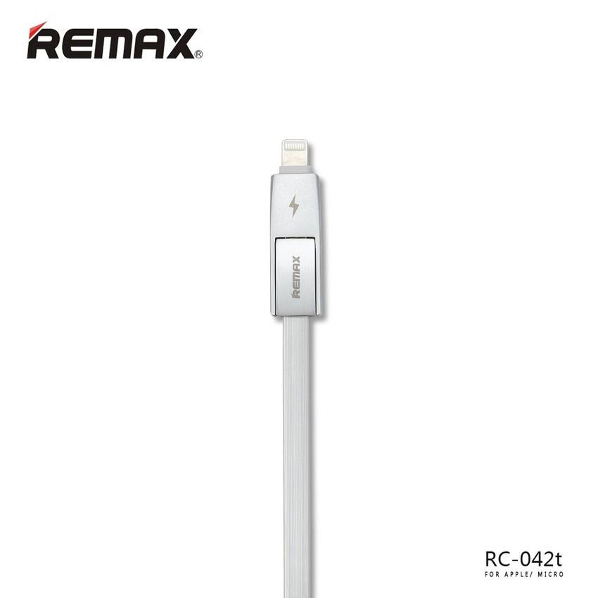 Cáp USB sang IP6 + Micro REMAX 1m Strive RC-042T (Trắng) - 2581418 , 117715214 , 322_117715214 , 139000 , Cap-USB-sang-IP6-Micro-REMAX-1m-Strive-RC-042T-Trang-322_117715214 , shopee.vn , Cáp USB sang IP6 + Micro REMAX 1m Strive RC-042T (Trắng)