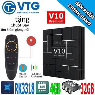 Android TV Box V10 Premium RK3318 RAM 4GB ANDROID TV 9.0 tặng kèm chuột bay G10S new