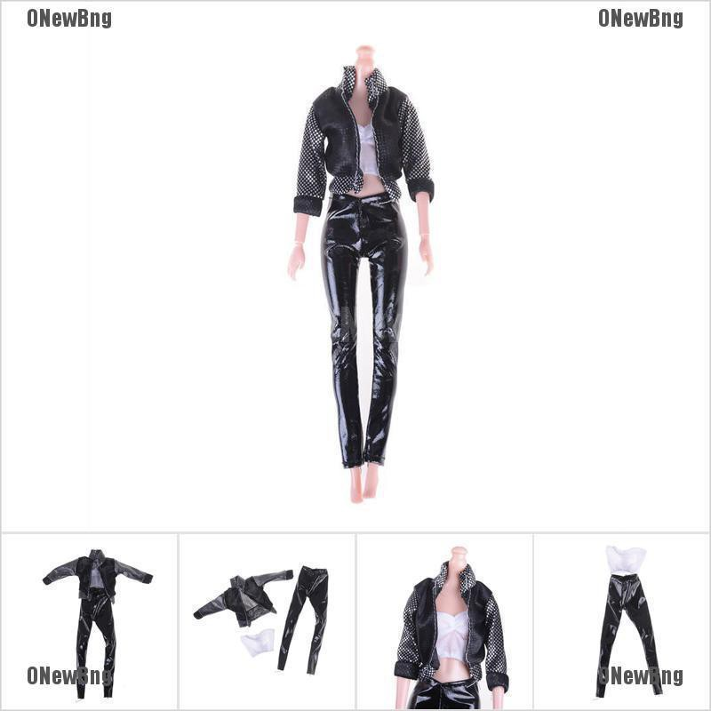 ONewBng✪ 1Set Fashion Black Outfit Casual Daily Travel Pants Clothes For Doll Accessories