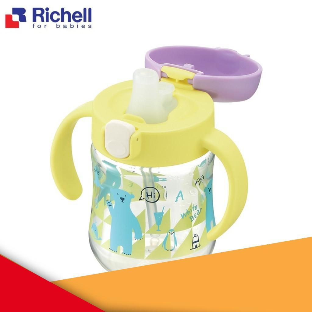 [Cực Hot] 🔇[Chính Hãng]Cốc tập uống 2in1 T.L.I Richell (hồng, vàng) RC21401/RC21400