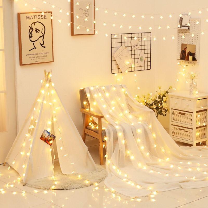 Dây đèn LED trang trí nhà cửa hình ngôi sao