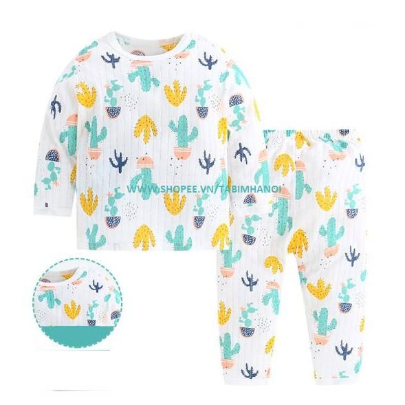 Bộ quần áo trẻ em cotton giấy QATE269 cho bé sơ sinh đến 15kg