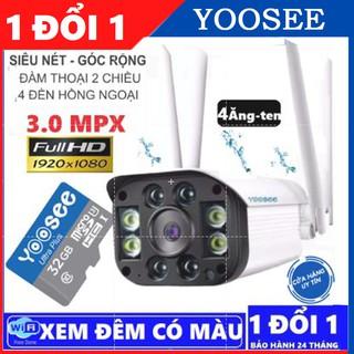 Camera yoosee ngoài trời 3.0 mpx siêu nét kèm thẻ chính hãng