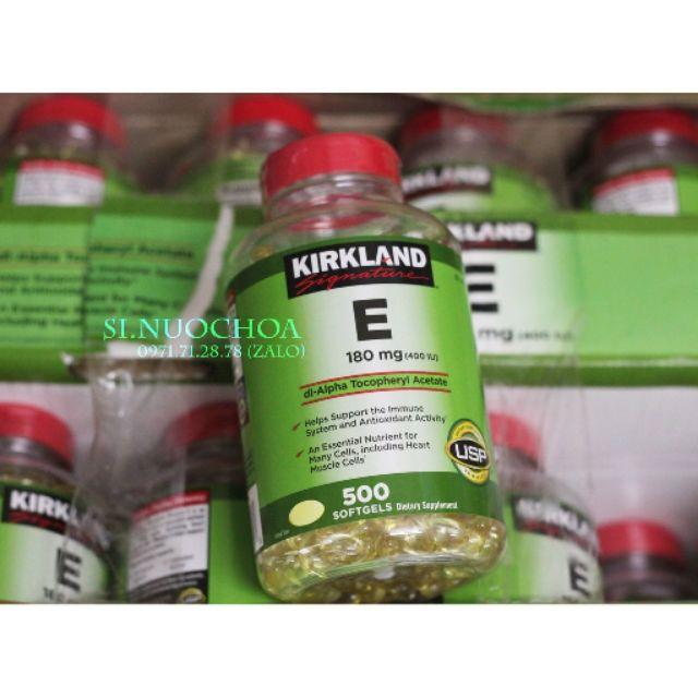 [Mẫu mới] Vitamin E 400 IU Kirkland Mỹ 500 viên (date 2021)