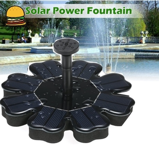 COD! Floating Solar Fountain Flower-shape Water Pump for Outdoor Birdbath Pool Garden Decoration