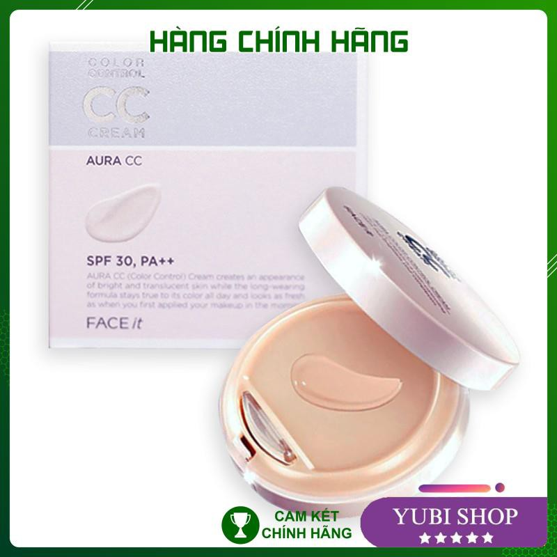 [HÀNG AUTH] Kem Nền CC Cream Face It - Kem Nền CC Cream Face It Aura Color Control Cream The Face Shop