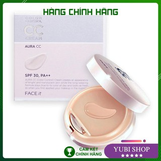 [HÀNG AUTH] Kem Nền CC Cream Face It – Kem Nền CC Cream Face It Aura Color Control Cream The Face Shop