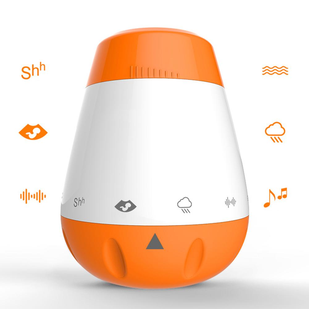 Voice Sensor Sleep Soother White Noise Rechargeable Therapy Sound Machine Infants Smart Portable Music Baby