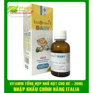 BUONAVIT BABY VITAMIN TỔNG HỢP DẠNG NHỎ DỌT CHO BÉ 20ML NHẬP KHẨU CHÍNH HÃNG ITALIA thumbnail