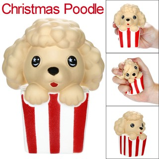 Squishies Cute Christmas Poodle Slow Rising Fruits Scented Stress Relief Toy