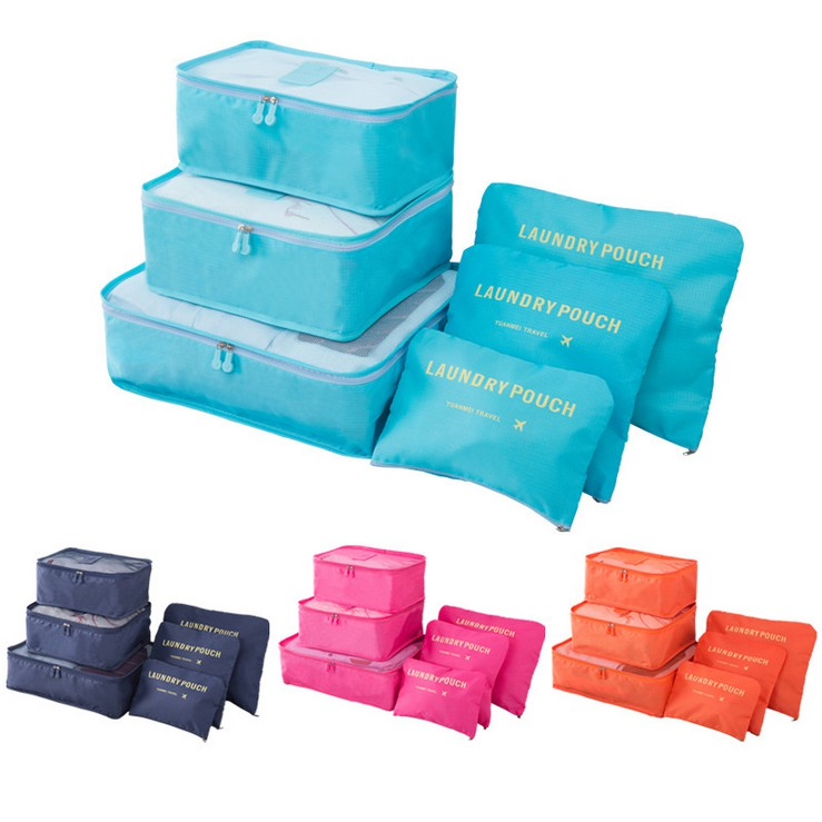 Luggage clothing waterproof finishing bag storage bag 6 piece set