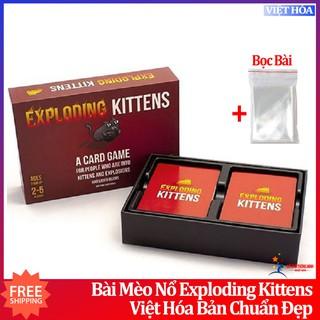 [Freeship] Mèo Nổ Cơ Bản Mèo Nổ Việt Hóa Exploding Kittens Tiếng Việt thumbnail