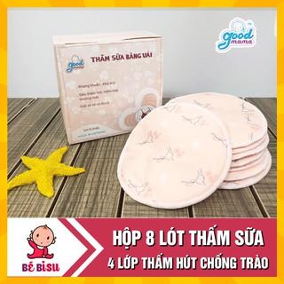 [Tặng 1 bát chống đổ kèm thìa báo nóng] - Combo 8 Miếng lót thấm sữa Goodmama cao cấp thumbnail