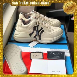 giày thể nam nam nữ ny chunky đen lót hoa hàng chuẩn 1 1 , giày tăng chiều cao 5cm thumbnail