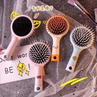 Gương lược chải tóc 2in1 – Lược kèm gương(khách muốn chọn màu thì ib cho shop nhé)