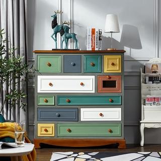 Tủ ngũ đấu kiểu Mỹ Tủ lưu trữ gỗ phòng ngủ Tủ lưu trữ Cửu đẩu Tủ lưu trữ Địa Trung Hải Tủ lưu trữ phòng khách Bắc Âu thumbnail