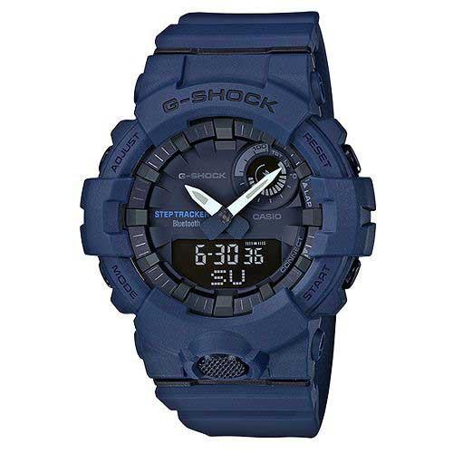 [CASIO] G-SHOCK ขั้นตอนการแสดงผลแบบ Dual Bluetooth ที่มีชีวิตชีวา - สีน้ำเงินเข้ม (GBA-800-2A)