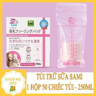 TÚI TRỮ SỮA❤️FREESHIP❤️ Hộp 50 túi trữ sữa SAMI 250ml cho bé❤️HÀNG HOT❤️ – PKSS72