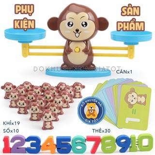 Đồ chơi giáo dục - cân bằng toán học khỉ con/heo con thông minh - Đồ khuyến mãi giá tốt
