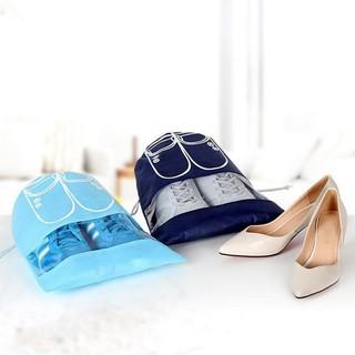 Combo 10 túi vải đựng giày dép khi đi công tác du lịch có dây rút thumbnail