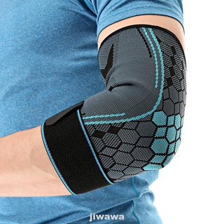 1pc Elbow Pads Protectors Sports Badminton Breathable Fitness Non Slip Tennis Training High Elastic