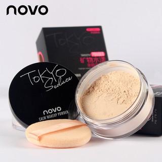 NOVO Trang điểm 371 phấn trang điểm thân thiện với da, kiểm soát dầu, chống thấm nước, làm sáng màu da, phấn phủ mờ