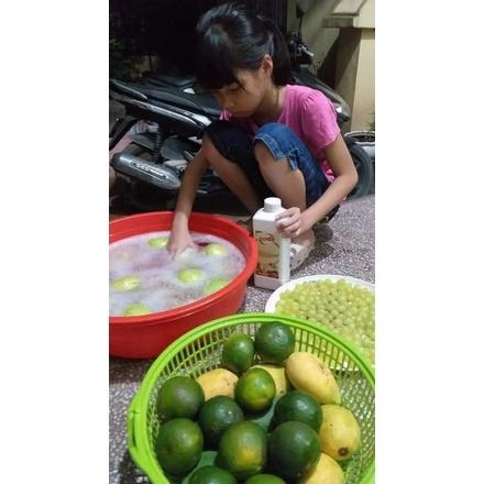 nước ngâm rau củ quả và dụng cụ ăn uống đi tro