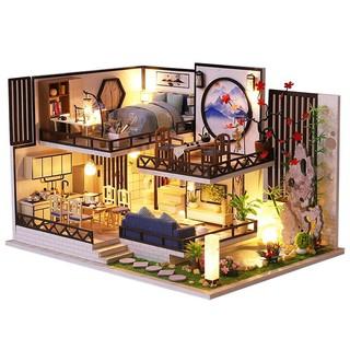 Kèm Mica và keo dán – Mô hình nhà gỗ búp bê Dollhouse DIY – M029A Bamboo Flute Rhyme