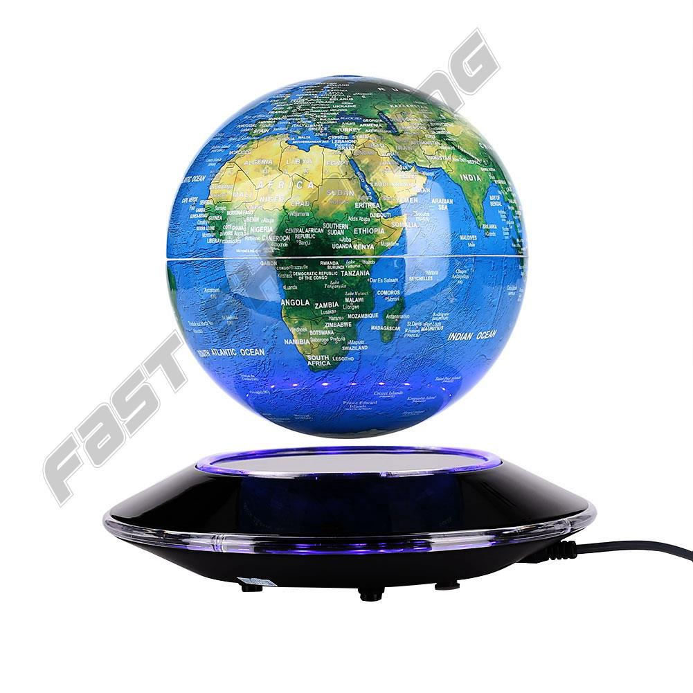 Cool Creative 6 Inches Magnetic Suspension Globe Sphere Shining Educational Toy