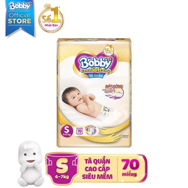[Toàn quốc] Tã quần cao cấp Bobby Extra Soft Dry S70/M64/L56/XL50/XXL46