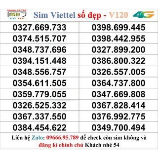 Sim Viettel V120 đầu 09 số đẹp giá rẻ 54