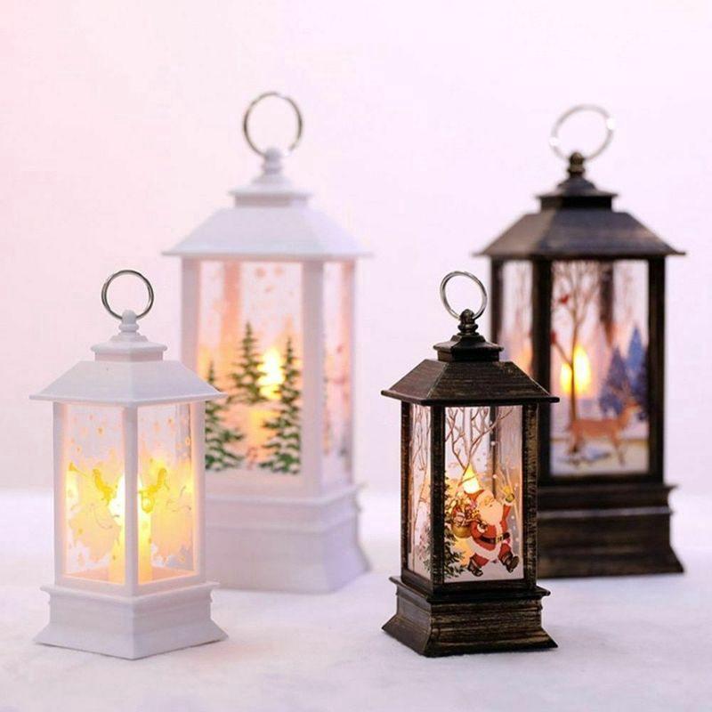Đèn LED họa tiết Giáng Sinh hình yêu tinh và ông già Noel dùng trang trí nhà cửa