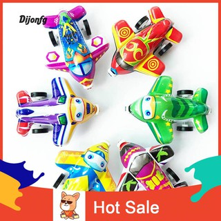 ♌Di 6Pcs Colorful Mini Pull Back Plane Simulation Model Kids Children Playing Toy