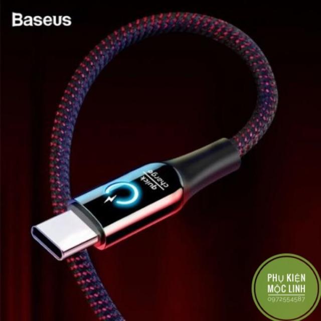 ☘️Chính hãng Baseus ☘️ Cáp sạc dù tự ngắt chân Type -C hỗ trợ sạc nhanh 3.0 Bảo hành 3 tháng 1 đổi 1