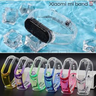 Dây Miband 5 , dây Miband5 Dây Đeo Trong Suốt Thay Thế Cho Xiaomi Miband 5 Chất Lượng Cao thumbnail
