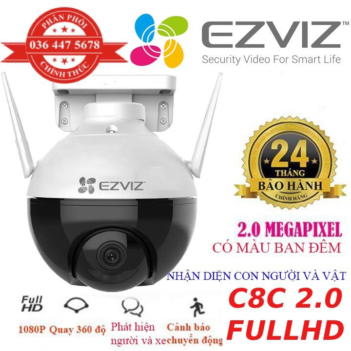 Camera 2M WIFI (Xoay) Ngoài Trời EZVIZ C8C Màu Ban Đêm Thông Minh 1080P