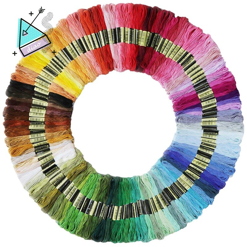 ★SALE☆Rainbow Color Embroidery Floss Cross Stitch 140 Skeins Per Pack
