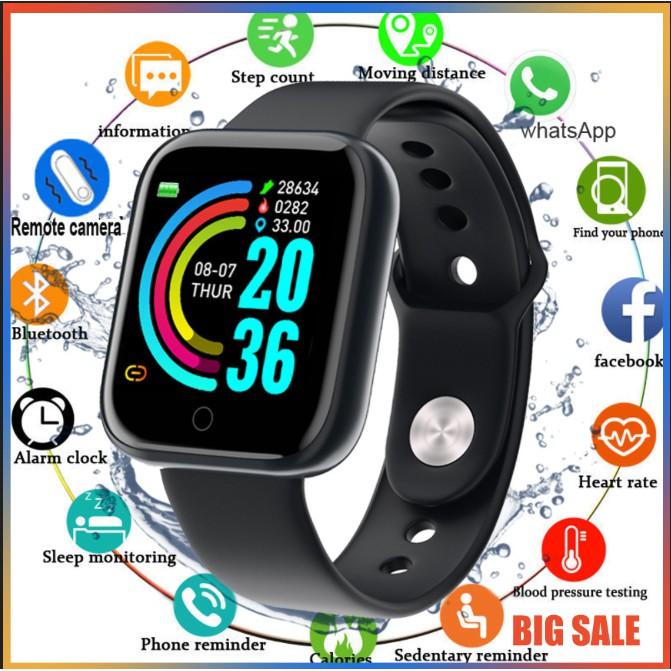 Đồng Hồ Thông Minh Y68 Chống Nước 438 Kết Nối Bluetooth Hỗ Trợ Theo Dõi Sức Khỏe