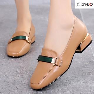 Giày nữ - giày da cao cấp HT.NEO da thật 100% nguyên miếng siêu mềm siêu êm chân phối đồ cực dễ, cực đẹp NU45 thumbnail