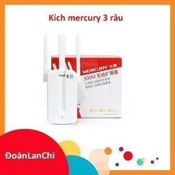 [ GIÁ HUỶ DIỆT] Kích sóng wifi Mercury MW310re 300Mbps 3 râu cực mạnh – BH 1 năm | Kích wifi Mercury MW310re 3 ăng ten Giá chỉ 159.000₫