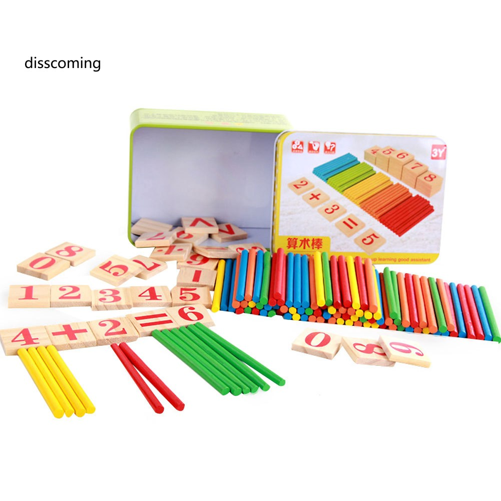 Colorful Educational Toy Baby Kids Math Arithmetic Rods Gift Early Learning