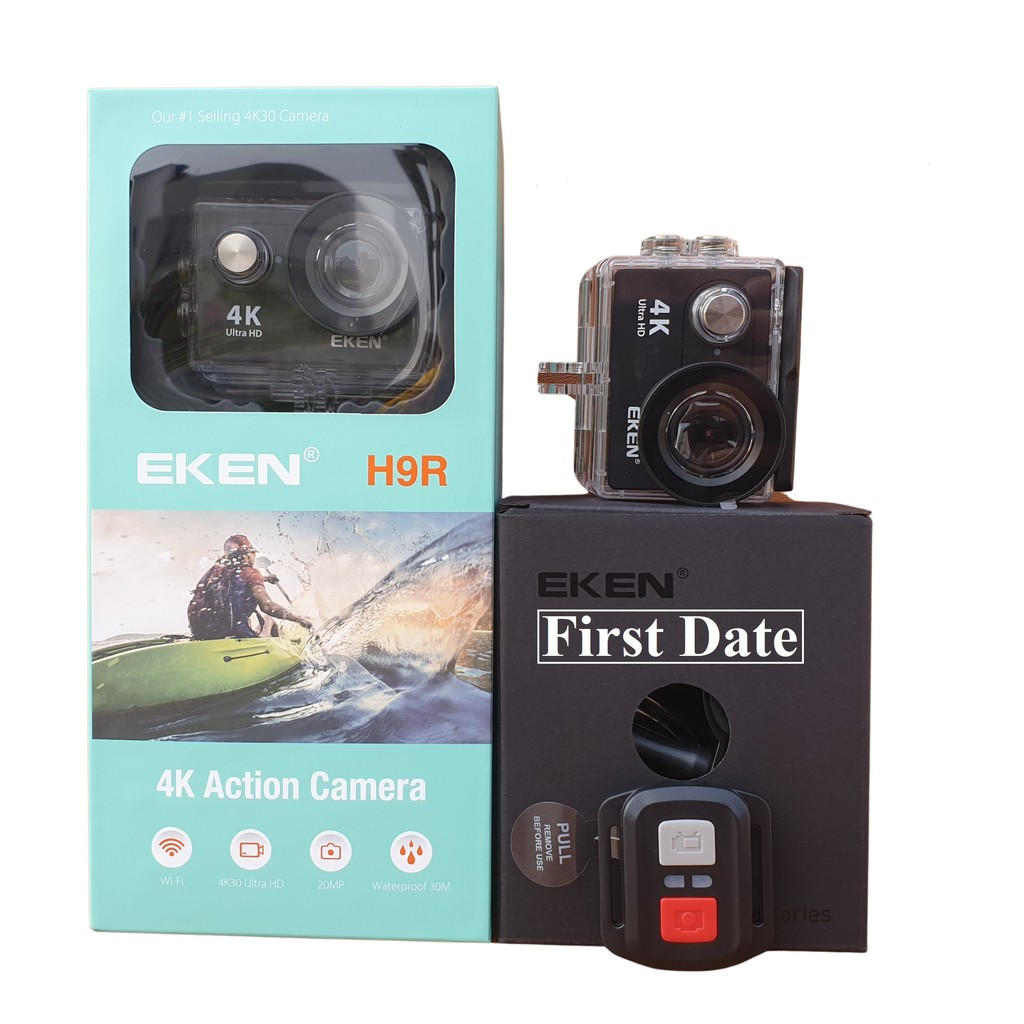 Camera EKEN H9R Thể Thao Chống Nước 4K30 Ultra HD, WiFi - Full Box Đủ Phụ Kiện - Hàng Nhập Khẩu