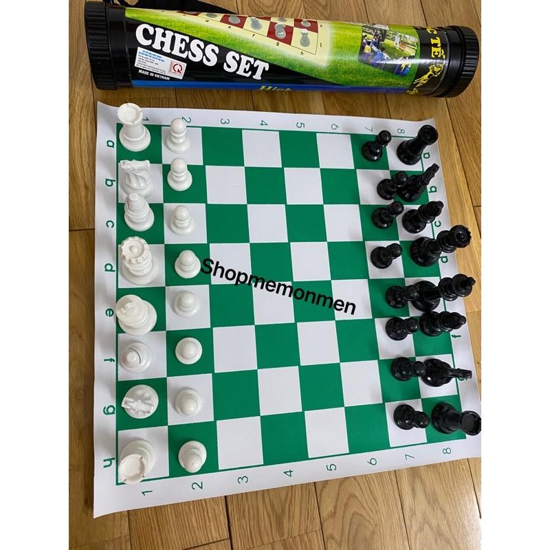 Bộ cờ vua thi đấu tiêu chuẩn quốc tế, size to, có ống đựng