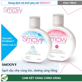 SMOOVY - SMOOVY COOL 150ml - Dung Dịch Vệ Sinh Phụ Nữ Smoovy [Smovy, smuvy, smovy cool] 1