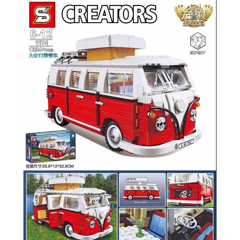 Lego Techinc Car 10220 SY1174 Lepin 21001 Creator Volkswagen 1T Camper Van ô tô bán tài cắm trại lego xe hàng Quảng Châu - 23054703 , 5000392150 , 322_5000392150 , 512000 , Lego-Techinc-Car-10220-SY1174-Lepin-21001-Creator-Volkswagen-1T-Camper-Van-o-to-ban-tai-cam-trai-lego-xe-hang-Quang-Chau-322_5000392150 , shopee.vn , Lego Techinc Car 10220 SY1174 Lepin 21001 Creator