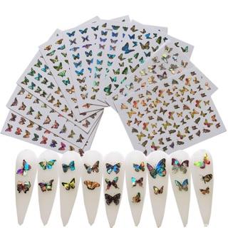 Sticker bướm dạ quang dán móng tay nail mới thumbnail