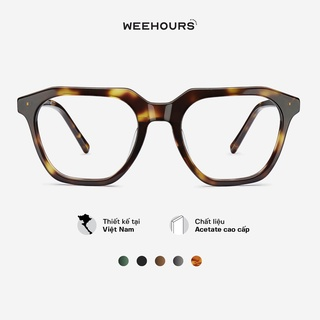 Gọng kính cận nam nữ WeeHours SLAY , dáng vuông thời trang, nhựa Acetate cao cấp thumbnail