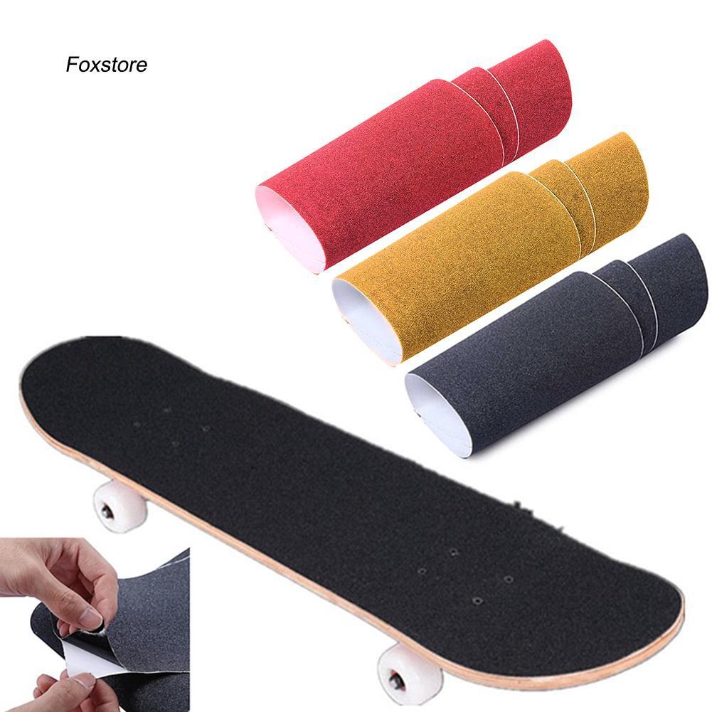FXTE_Grip Tape Sand Paper Skateboard Skate Skating Scooter Sticker Longboarding