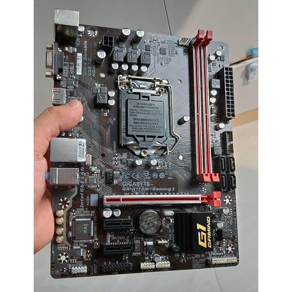 [Nhập ELCLMAY hoàn 30K xu đơn từ 200K]Bo Mạch Chủ Gigabyte H110M Gaming 3 (NEW) Giá chỉ 1.100.000₫